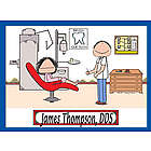 Personalized Dentist Cartoon Print