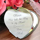 Personalized Key To My Heart Compact Mirror