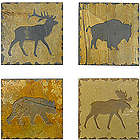 Rustic Slate Wilderness Coasters