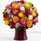 Premium Birthday Smiles Roses and Lilies Bouquet