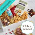 Savory Snacking Gift Crate with Personalized Ribbon