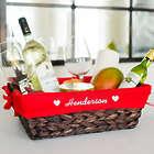 Personalized Cupid Hearts Wicker Basket
