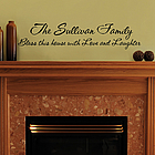 Personalized Family Vinyl Wall Art