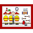 Personalized Firefighter Cartoon