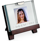 Engraved Mini Glass Picture Frame