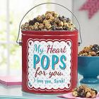 Pop Goes My Heart Personalized Popcorn Tin