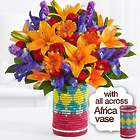 Carnival of Color Bouquet in All Across Africa Vase