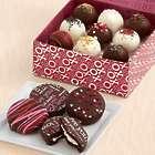 4 Valentine's Oreo Cookies and 9 Valentine's Cake Truffles
