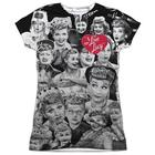 I Love Lucy Front-Print Collage T-Shirt