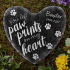 Paw Prints On My Heart Personalized Garden Stone