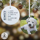 Definition of a Pet Custom Photo 2-Sided Christmas Ornament