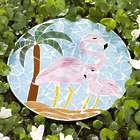 Decorative Flamingo Mosaic Stepping Stone