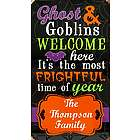 Personalized Halloween Spook-tastic Metal Sign