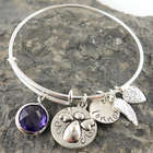 My Angel Personalized Stamped Adjustable Wire Bangle Bracelet