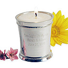 Personalized Julep Cup with Lemon Votive Candle