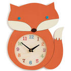 Wool Felt Fox Clock