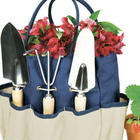 Large Canvas Garden Tote with Metal Tools