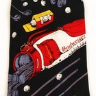 Budweiser Golf Black Silk Neck Tie