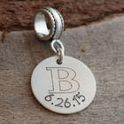 Personalized Wedding Engraved Charm Bead