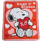 Peanuts Snoopy Valentine Fleece Throw