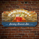 Personalized Sipping Sunrise Wooden Bar Sign