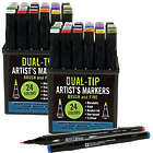 2 Studio Series Professional Alcohol Dual-Tip Markers Sets