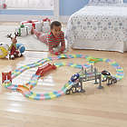299 Piece Glow-In-The-Dark Click-Lock Track and Cars Set