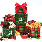 Reindeer Holiday Snacks and Sweets Gift Tower