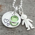 Mommy and Child Personalized Necklace