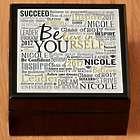 Personalized Believe in Yourself Graduation Keepsake Tile Top Box