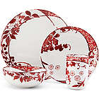 Hana Red 4-Piece Place Setting