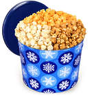 2 Gallons of People's Choice Popcorn Mix in Winter Wonderland Tin