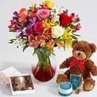 Valentine's Day Smiles and Sunshine Bouquet with Chocolates