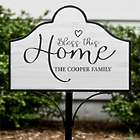 Personalized Bless This Home Magnetic Yard Sign