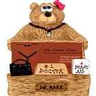 Personalized Doctor Bear Business Card Holder