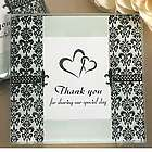 Thank You Damask and Fleur de Lis Photo Coaster