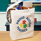 Proud Autism Teacher Tote Bag