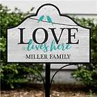 Love Lives Here Personalized Magnetic Yard Sign