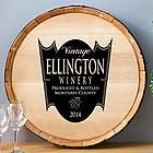 Personalized Family Crest Wine Barrel Home Decor Sign