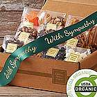 Organic Snacks Box Sympathy Ribbon