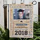 Personalized Graduation Photo Word-Art Garden Flag