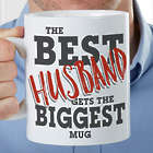 Personalized Best Husband Oversized Coffee Mug