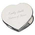 Personalized Silver Heart Compact