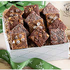 Chocolate, Peanut Butter and Fudge Nut Brownies Gift Box