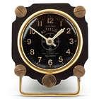 Metal Altimeter Desk Clock in Black and Brass