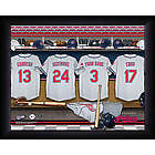 Personalized Cleveland Indians MLB Locker Room Framed Print