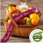Organic Fruit Basket with Thank You Ribbon