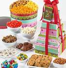 7-Tier Tower Thinking of You Stripes Snacks Gift Tower