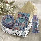 Lavender Heart Bath Gift Basket