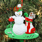 Personalized Golf Ball Golfer Ornament